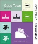 landmarks of cape town. set of... | Shutterstock .eps vector #274614620