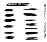 set of hand drawn grunge brush... | Shutterstock .eps vector #274614938
