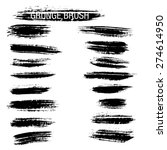 set of hand drawn grunge brush... | Shutterstock .eps vector #274614950