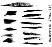set of hand drawn grunge brush... | Shutterstock .eps vector #274614959