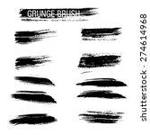 set of hand drawn grunge brush... | Shutterstock .eps vector #274614968