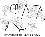 happy children playing on the... | Shutterstock .eps vector #274617320