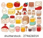 collection of lovely cake... | Shutterstock .eps vector #274626014