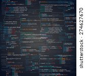 abstract programming code... | Shutterstock .eps vector #274627670