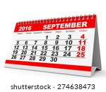 calendar september 2016 on... | Shutterstock . vector #274638473