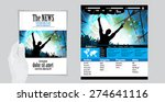 template music event magazine... | Shutterstock .eps vector #274641116