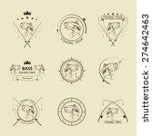 vector fishing symbol set | Shutterstock .eps vector #274642463