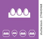 egg tray icon on flat ui colors ...