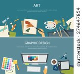 art education and graphic... | Shutterstock .eps vector #274647854