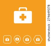 first aid box icon on flat ui...