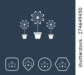 flower vase icon on flat ui...