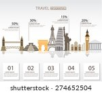 world travel infographics... | Shutterstock .eps vector #274652504