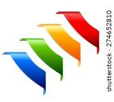vector corner ribbons   Shutterstock .eps vector #274652810