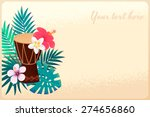 percussion drum with palm... | Shutterstock .eps vector #274656860