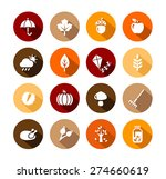collection of autumn icons  ... | Shutterstock .eps vector #274660619
