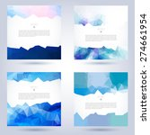 set of colorful vector template ... | Shutterstock .eps vector #274661954
