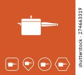 cooker icon on flat ui colors...