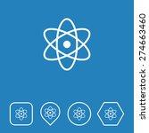 atom icon on flat ui colors...