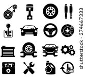 car parts icons.vector | Shutterstock .eps vector #274667333
