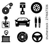 car parts icons.vector | Shutterstock .eps vector #274667336
