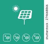 solar panel icon on flat ui...