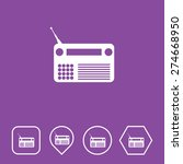radio icon on flat ui colors... | Shutterstock .eps vector #274668950