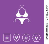bikini icon on flat ui colors...