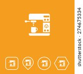 coffee machine icon on flat ui...
