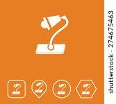table lamp icon on flat ui...