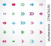 arrow sign icon set. arrow icon ... | Shutterstock .eps vector #274676150