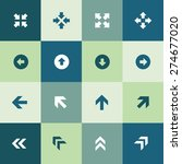arrows icons universal set for...