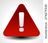 red warning  attention  caution ... | Shutterstock .eps vector #274679330