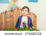 baby boy fun emotions... | Shutterstock . vector #274685228