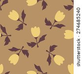 seamless flower pattern.... | Shutterstock .eps vector #274685240