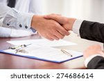 handshake of a real estate... | Shutterstock . vector #274686614