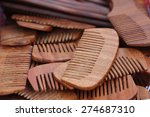 Wood Comb Background ...