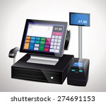 Cash Register With Bar Code...