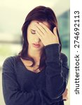 worried woman have big problem   Shutterstock . vector #274692113