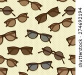 retro sunglasses seamless...