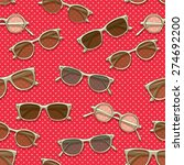 retro sunglasses seamless... | Shutterstock .eps vector #274692200