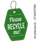 Please Recycle Me Green Leathe...
