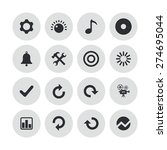 audio icons universal set for... | Shutterstock .eps vector #274695044
