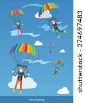 happy peoples plans with... | Shutterstock .eps vector #274697483