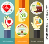 house   business  medical and... | Shutterstock .eps vector #274698794
