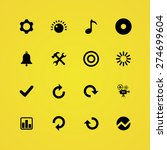 audio icons universal set for... | Shutterstock .eps vector #274699604