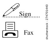 pen and fax machine icons with... | Shutterstock . vector #274701440