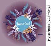 beautiful flower background art ... | Shutterstock .eps vector #274703414