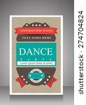 retro dance party flyer... | Shutterstock .eps vector #274704824