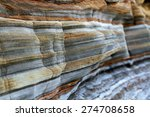 Layers Of Sedimentary Sandston...
