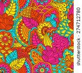 hand drawn seamless pattern...   Shutterstock .eps vector #274712780